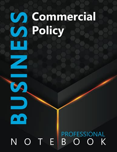 """Compare Textbook Prices for Business, Commercial Policy Ruled Notebook, Professional notebook, Journal for Business & Economics Professional, Large 8.5"""" x 11"""" size, 108 pages, Glossy cover  ISBN 9798490649632 by Cre8tive Press"""