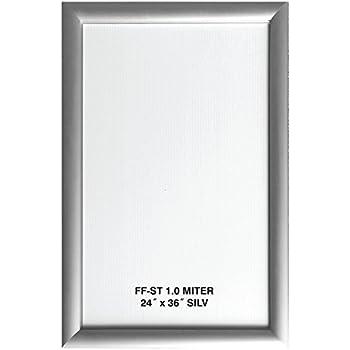 Amazon Com Alpina Manufacturing 24x36 Silver Aluminum Snap Frame 1 0 Profile Wall Mounted