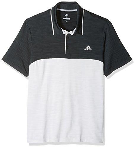 adidas Golf Herren Poloshirt Ultimate Heather Blocked S Schwarz/Grau
