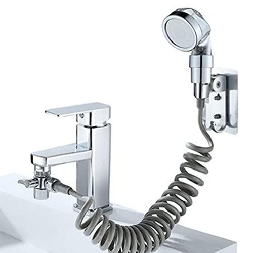 Binghai 4 unids acero inoxidable ducha grifo extensioner mano pequeña ducha boquilla conjunto hogar