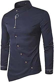 Jeevaan Cotton Plain Solid Slim Fit Shirt for Men's