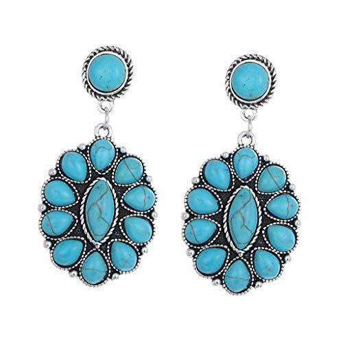 Non-brand 1Pair Fashion Gemstone Earring Dangles Girls Ear Studs Gem Jewelry Gifts