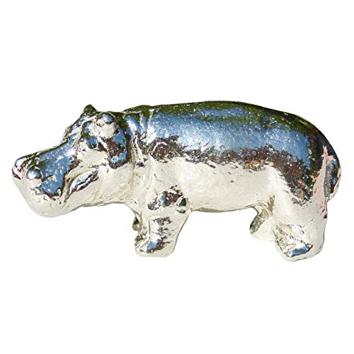 Nilpferd Figur, Kleines Nilpferd, Nilpferd Geschenk, Handgegossen von William Sturt, aus Deutsche Zinn (Pewter)