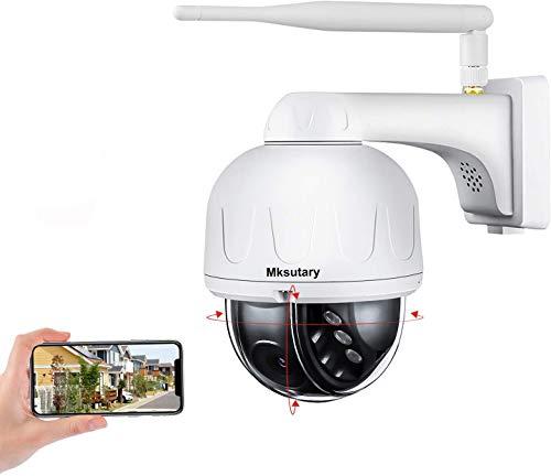 Cámara IP Exterior, Camara IP WiFi 1080p, Cámara PTZ Vigilancia...