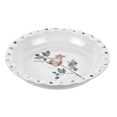 Portmeirion Home & Gifts WN4028-XL Wrendale Moule à tarte en porcelaine anglaise Multicolore 27,5 x 27,5 x 4,5 cm