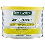 Naturaverde Wasserlösliches Enthaarungswachs mit Zucker, Honig und Zitrone für normale Haut , 3er Pack (3 x 400 ml)