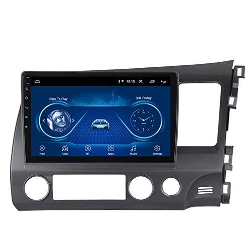 JALAL Navegador GPS para Coche Pantalla táctil HD Doble DIN 2.5D para Honda Civic 2004-2011 Admite Mirror Link para iOS/Android FM Am Radio SWC DSP Modo de Pantalla Dividida