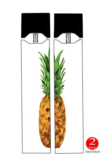 Vinyl Decal Stickers - Yellow-Polygon-Pineapple-Design - Skin Wrap for Juul Vape (2 Pack)