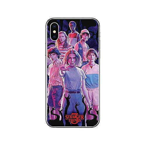 RENGMIAN Stranger Things Transparent Soft TPU iPhone Phone