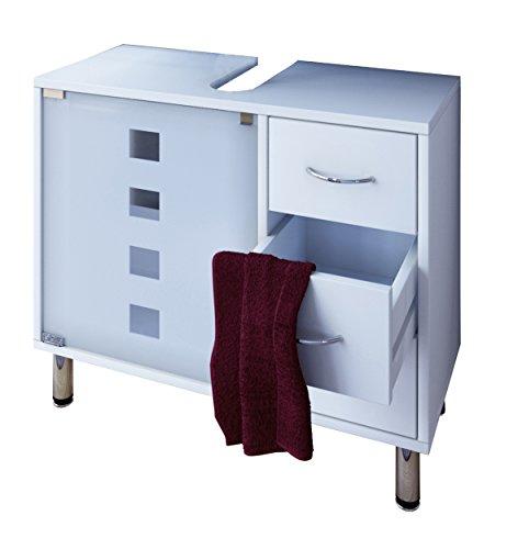 VCM Waschtischunterschrank Bad Möbel Unterschrank Schubladen Badschrank Badmöbel Weiss 67 x 56 x 30 cm