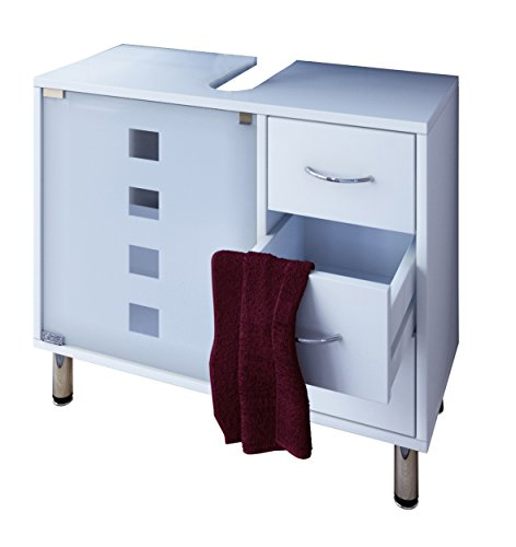 """VCM Waschtischunterschrank Bad Möbel Unterschrank Schubladen Badschrank Badmöbel Weiss 67 x 56 x 30 cm \""""Darola\"""""""