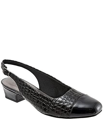 [トロッターズ] シューズ 22.0 cm パンプス Dea Patent Croco Print Slingback Block H Black Croc レディース [並行輸入品]