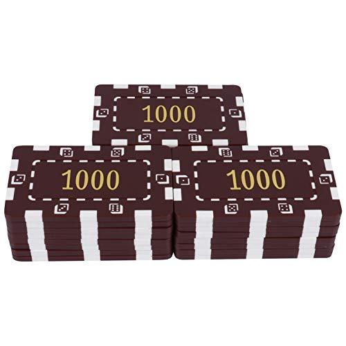 TOYANDONA 25Pcs Número Impreso Juegos de Fichas de Bingo Contadores de Aprendizaje de Plástico Monedas de Fichas de Bingo Juguetes de Moneda Fichas de Póquer Fichas de Juego Fichas de Apoyo