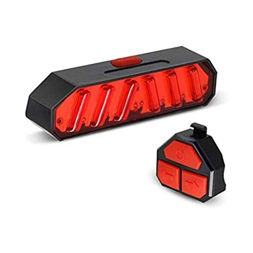 ELXSZJ XTZJ LED Bicycle Laser Tail Light, USB Rechargeable Bike Rear Lights Cycling Safety Flashlight Warning Emergency Lights| Laser Pointer Function