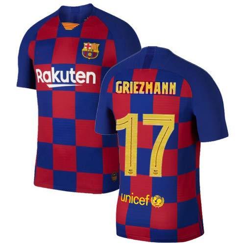 K&A Sports Maillot Enfant Antoine Griezmann F.C. Barcelona BARÇA Domicile 2019/2020 (Rouge/Bleu, L)