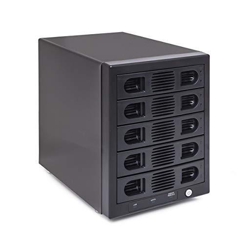 """Syba 5 Bay Tool Less Tray Hot Swappable 2.5"""" 3.5"""" SATA III RAID HDD External USB 3.0 Enclosure Windows MacOS SY-ENC50118"""