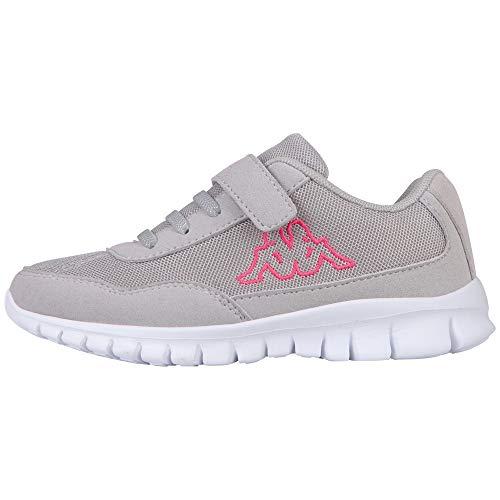 Kappa Mädchen Follow Kids Sneaker, Grau (1422 l´Grey/Pink), 30 EU