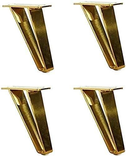 Gjrff. Gambe in Metallo mobili, Gambe mobili in Acciaio, Altezza 15 cm / 18 cm, con Viti di Montaggio, per Sala da Pranzo tavolino tavolino (Color : Copper Brushed, Size : 18cm/7.10in)