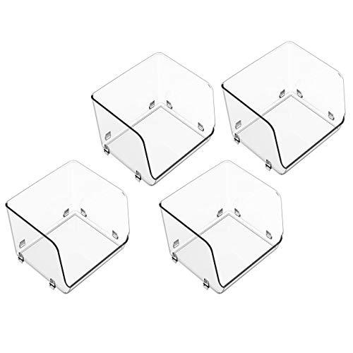 YBM Home - Cesta de almacenamiento de alimentos apilable de acrílico transparente con amplia parte frontal abierta para armarios de...
