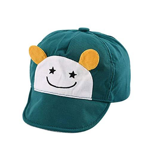 ZLJII Automne Enfant Casquette De Baseball Doux Bord Coton Chapeau Nouveau-Né Infant Garçon Fille Peaked Caps pour 6-24 Mois Bébé,Green