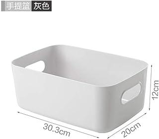 B/H Boîte fraîcheur,Panier de Rangement en Plastique boîte de Rangement de Bureau-Gris