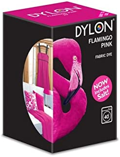 Dylon Machine Colorant 350g Flamant Rose, Sel Inclus! Remise en Vrac Disponible (1)