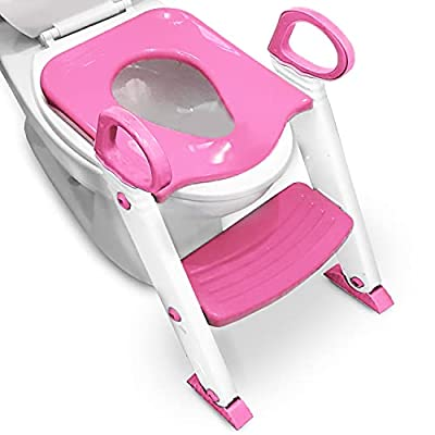 Alayna Potty Training Seat Toilet w/ Step Stool Ladder & Splash Guard, Kids Toddlers Trainer w/ Handles. Sturdy & Foldable. Non-Slip Steps & Anti Slip Pads. Adjustable Potty Chair - Boys Girls Baby from Alayna TM
