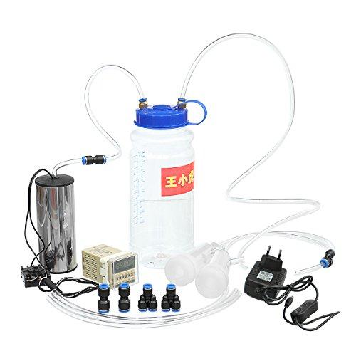 Tutoy 110-250V 2L Tragbare Elektrische Melkmaschine Melker Kuh Schaf Ziegenmilch Manuelle Pumpe Electric Impuls - Eu-Stecker