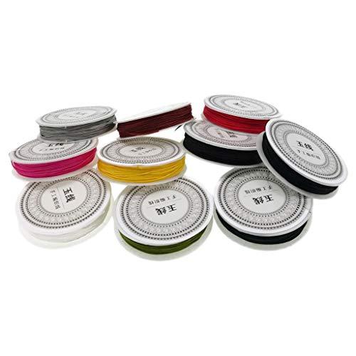 Sharplace 10 Rollos De Fabricación De Joyas Cordón Nudo Chino Trenzado Cadena para Pulseras Collares Fabricación - Segundo