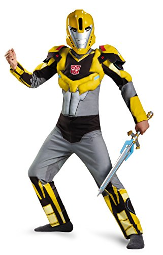 Bumblebee Animated Classic Muscle Costume, Medium (7-8)