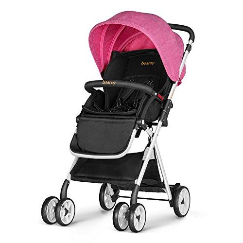 besrey cochecito de bebé de 6-36 Meses capacidad plegable Max 15 kg de carga Acerca de certificación de seguridad ECE color rosa