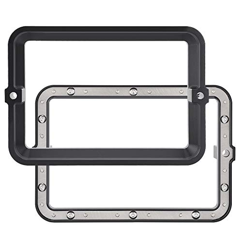 Weikeya Photosensitive Resin Release Groove, Convenient Printer Accessories Tool Steel Ring Made of Metal 17.8 * 12 * 3cm (Black)