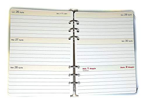 tipome.com Agenda 18 Mesi - Ricambio A5 14,5x20,5cm per Organizer 6 Anelli - Calendario Italiano