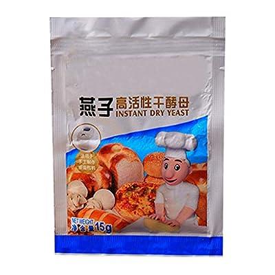 Tentenentent 15g Bread Yeast Active Dry Yeast High Glucose,Tolerance Kitchen Baking Supplies for Bread Making