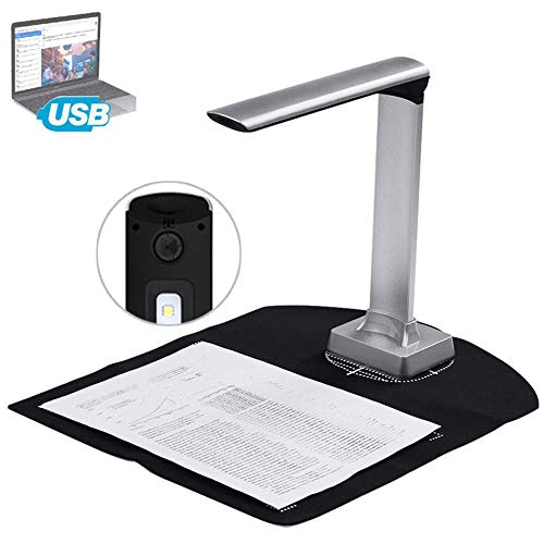 Best Review Of POEO Smart Book Scanner with LED Light, 15MP High Definition Document Reader Projecto...