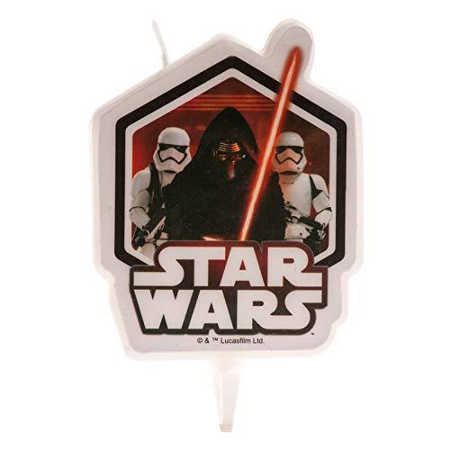 Dekora-346207 Vela de Cumpleaños en 2D de Kylo Ren con Soldados Imperiales de Star Wars, color negro (346207)