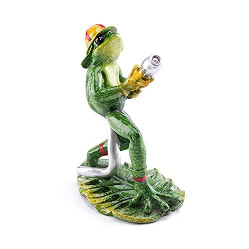 Firefighter Frog Fireman Glazed Figurine Resin Craft Sculpture Home and Office Decor (Fireman)