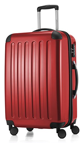HAUPTSTADTKOFFER - Alex - 4 Doppel-Rollen Hartschalen-Koffer Koffer Trolley Rollkoffer Reisekoffer, TSA, 65 cm, 74 Liter, Rot