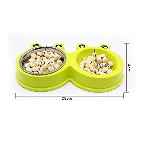 Hund und Katze Cat Bowl Hundefutter Schüssel Nahrungsmittelbehälter Haustier Hund-Katze-Welpen Reise Füttern Feeder Doppel Futternapf Wasserschale Schüsseln Perro Gatos Für Zuhause