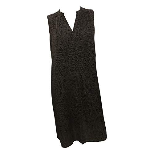 OPUS Damen Wemka Snake Kleid, Black, 42