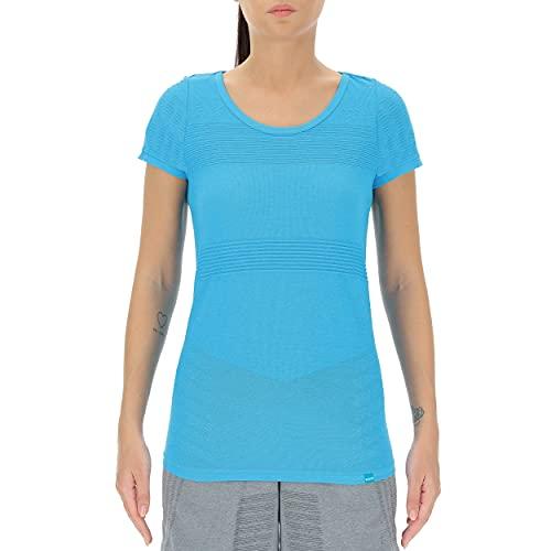 UYN Lady Natural Training OW Shirt Short SL Chaqueta, Blue Danube, Extra-Large para Mujer