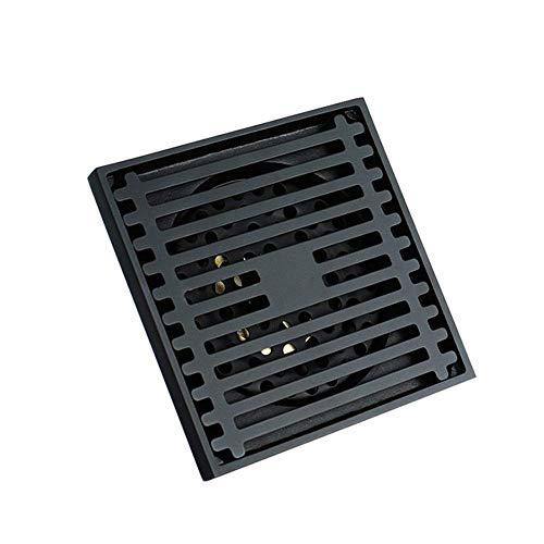 HXCD Bodenablauf 10 cm x 10 cm Quadratischer Bodenablauf Kupfer Badezimmer Küche Bodenablauf Abfallablaufabdeckung für Badezimmer Duschraum Toilette Wäscherei Garten Feste Duschköpfe