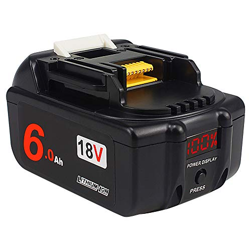 AMICROSS 18V 6.0Ah bl1860 Li-ion Replacement Batteries(with LED Power Display) Compatible with Makita XMT03Z,XCV11Z,DMP180ZX, XSR01Z, XPK01Z, XHU02Z, XAG04Z, XRJ04Z, DCF203Z, XLC02ZB.…