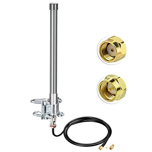 Bingfu 868 MHz LoRa Antenna Aerial, Outdoor 5dBi Fiberglass LoRaWAN Antenna N-Male for RAK HNT Bobcat Helium Hotspot Miner + 1m N-Female to RPSMA-Male Extension Cable