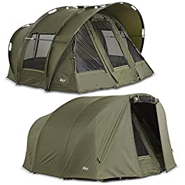Lucx® Bivvy Leopard + Winterskin Tente de pêche 2–3 Personnes + Couverture 2 à 3 Personnes + Tente de Carpe + Tente de Camping
