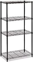 Sharehouse 4-Shelf Adjustable Kitchen Shelf Organizer Rack,Kitchen Rack, Storage Shelving Unit,Steel Organizer Wire Rack