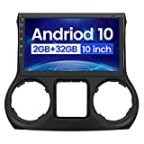 Car Radio Stereo 10 inch Touch Screen for Jeep Wrangler 2011-2014 with Built in Apple Carplay Andriod Auto