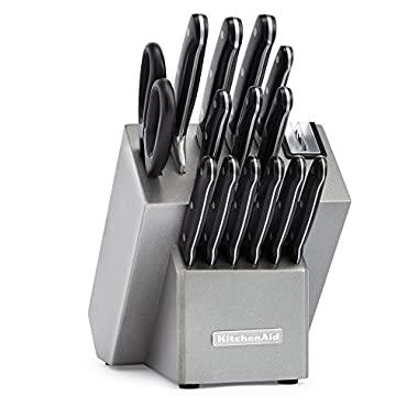 KitchenAid KKFTR16SL 16 Piece Classic Forged Series Triple Rivet Cutlery Set, Silver