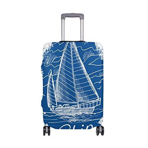 FANTAZIO - Funda Protectora para Maleta con Emblema náutico, Color Azul