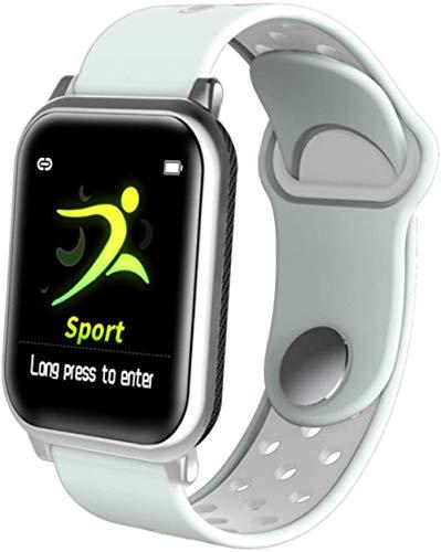 Reloj de fitness con monitor de frecuencia cardíaca, podómetro, rastreador de actividad, pantalla táctil, reloj inteligente, pulsera IP68